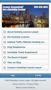Hardship License Lawyer Mobile