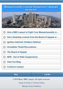 RMV Lawyer Mobile Website